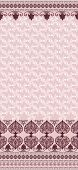 stock photo of bordure  - pattern with bells and a wide border in pink and burgundy tones - JPG