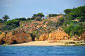 picture of vilamoura  - Beach Maria Luisa Albufeira Algarve Portugal Summer - JPG