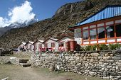 picture of sherpa  - a sherpa lodge in the village of dingboche - JPG
