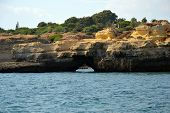 foto of vilamoura  - Caves cliffs yellow Albufeira in the Algarve - JPG