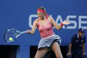 Two times Grand Slam champion  Victoria Azarenka during her final match at US Open 2013