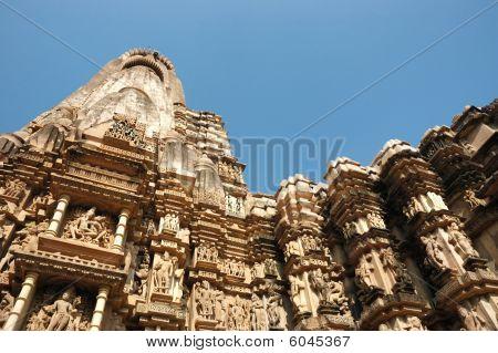 Постер, плакат: Известные храмы в Индии с Камасутры любовных сцен, холст на подрамнике