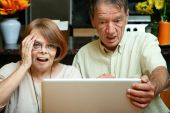Senior Couple Shocked At The Content On Their Computer