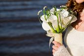 image of calla  - Luxurious bouquet in bride - JPG
