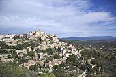 stock photo of hilltop  - Hilltop medieval village of Gordes in France - JPG