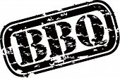 picture of bbq party  - Grunge BBQ rubber stamp - JPG