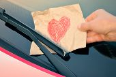 stock photo of wiper  - Love ticket  - JPG