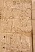 Relief Carving. Karnak Temple, Luxor, Egypt