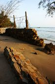 Erosion, Wave Destroy Seawall, Effect Of Climate Change