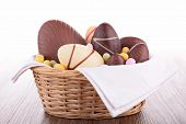 image of easter candy  - chocolate easter egg - JPG
