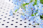 stock photo of forget me not  - bouquet of blue forget - JPG