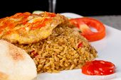 pic of nasi  - Fried Rice Nasi Goreng Indonesia Traditional Food in white plate - JPG