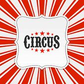 stock photo of tent  - Circus poster background - JPG