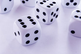 foto of groping  - groped their luck rolling the dice game - JPG
