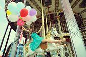stock photo of merry-go-round  - Merry - JPG