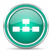 stock photo of cisco  - database green glossy web icon - JPG