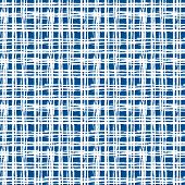 image of cross-hatch  - Vintage striped seamless pattern with crossing brushed lines in blue and white colors - JPG