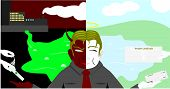 pic of billion  - Two faces of business man vector with background - JPG