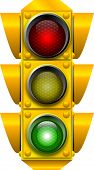 stock photo of traffic light  - raster graphic depicting a traffic light - JPG