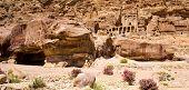 picture of petra jordan  - Beautiful red rock formations in Petra Jordan - JPG