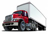 image of big-rig  - Cartoon semi truck - JPG