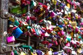 image of juliet  - Love padlocks in Juliet s house Florence Italy