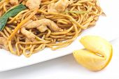 foto of lo mein  - Delicious chinese food chicken Lo Mein stir fry - JPG