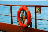 picture of lifeline  - lifeline at its regular place on the ship - JPG