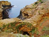pic of grotto  - The Grotto is one of many rock formations outside Port Campbell in Victoria in  Australia - JPG