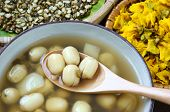 picture of sweet food  - Vietnamese food sweet lotus seed gruel ingredients - JPG