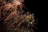 foto of errat  - Erratic firework display trailing in the wind - JPG