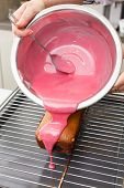 picture of pound cake  - chef making loaf cake - JPG