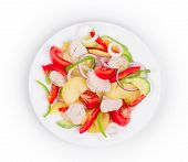 pic of zucchini  - Chicken salad with potatoes and zucchini - JPG