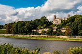 picture of palace  - one of the Elbe palaces Albrechtsberg Palace in Dresden  - JPG
