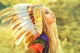 pic of indian chief  - Close - JPG