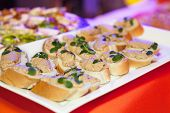 stock photo of catering  - Catering food at a wedding party  - JPG