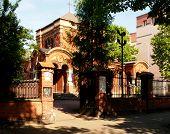 pic of church  - POLAND. LODZ. 11.maja 2015 The historic Orthodox Church (1923) renamed (1927) on the Garrison Church in Lodz. - JPG