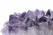 pic of specimens  - Sample of a beautiful Amethyst Druzy specimen isolated on white background - JPG