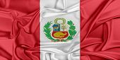image of waving  - Flag of Peru waving in the wind - JPG