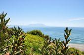 pic of greek-island  - Greek coastline with a view on Samothrace island - JPG
