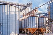 foto of silos  - Storage facility cereals and production of biogas - JPG