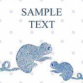 stock photo of chameleon  - Abstract funny chameleon cartoon vector illustration text - JPG