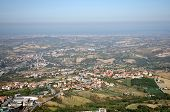 picture of apennines  - Top view on houses of San Marino and suburbs - JPG