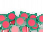 image of bangladesh  - Flag pin of bangladesh isolated on white - JPG