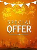 picture of eid festival celebration  - Beautiful special offer sale poster - JPG