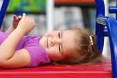 picture of playground  - little girl on the playground - JPG