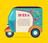 picture of rickshaw  - India  - JPG