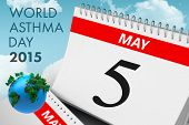 picture of asthma  - world asthma day against blue sky - JPG