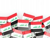 image of iraq  - Flag pin of iraq isolated on white - JPG