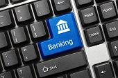image of electronic banking  - Close - JPG